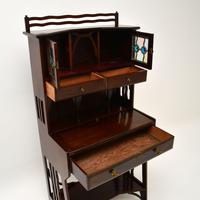 Antique Edwardian Arts & Crafts Mahogany Writing Bureau (7 of 12)