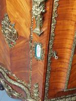 Antique Louis XVI Style Kingwood & Marble Cabinet (8 of 18)