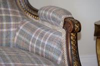 19th Century French Carved Walnut & Gilt Salon Settee (4 of 17)