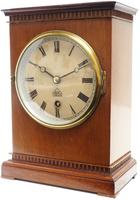 Superb Timepiece Mantle Clock -  Antique 8 Day Mahogany Dent Of London Carriage Mantel Clock (6 of 9)