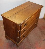 1900s Country Antique Pine Large Mule Chest - Well Polished (3 of 5)