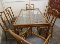 Regency Style Simulated Bamboo Conservatory Table & 6 Chairs (4 of 7)
