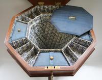 Late Victorian Walnut Trumpet Workbox Table (6 of 7)