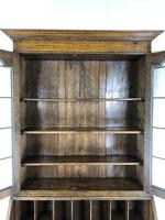 Early 20th Century Antique Oak Bureau Bookcase (9 of 17)