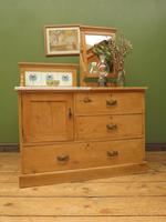 Antique Victorian Pine Washstand with Marble Top & Mirror, Adaptable Sink Unit (15 of 21)
