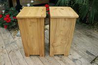 Fantastic & Large Pair of Old Stripped Pine Bedside Cabinets - We Deliver! (8 of 9)