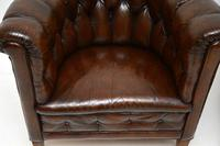Pair of Antique Swedish Leather Chesterfield Armchairs (6 of 12)
