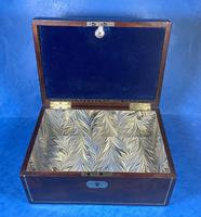 Georgian Brass Inlaid Mahogany Jewellery Box. (18 of 20)
