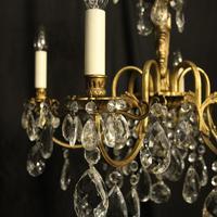 Italian Gilded & Crystal 6 Light Antique Chandelier (3 of 10)