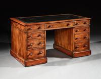 Fine Honduras Mahogany 19th Century Pedestal Desk (2 of 4)