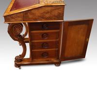 Victorian Antique Inlaid Walnut Davenport (5 of 13)