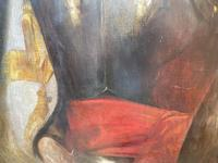 Military Officer In Armour Oil Portrait Painting On Canvas (6 of 10)