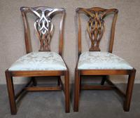 Set of Eight Mahogany Chippendale Style Chairs G.t.rackstraw - Droitwich (7 of 12)