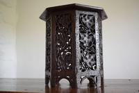 Anglo Indian Carved Table with Octagonal Top (7 of 10)
