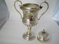 Impressive Late Victorian Campana Shaped Silver Trophy Cup (5 of 8)