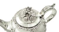 Antique Victorian Sterling Silver Teapot 1855 (6 of 9)