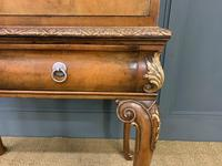 Floral Painted Burr Walnut Cabinet on Stand (4 of 15)