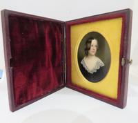 Miniature Portrait Victorian Beauty In original Travel Case (5 of 7)