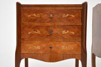 Pair of Antique French Inlaid Marquetry Bedside Tables (10 of 10)