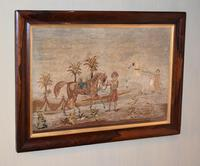Large Victorian Needlework of Arabian Horses