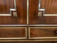 Early 19th Century Brass Mounted Flame Mahogany Linen Press (6 of 21)