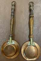 Pair of Miniature Copper Bed Warming Pans (2 of 6)