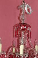 Cranberry Flash Crystal Chandelier (5 of 6)