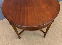 Edwardian Walnut Oval Occasional Table (12 of 13)