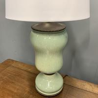 Pair of Art Deco Teal Blue Ceramic Lamps (4 of 8)