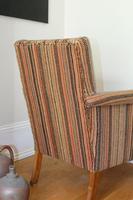 Antique Oak Legged  Afghan Kelim Covered Chair (9 of 10)