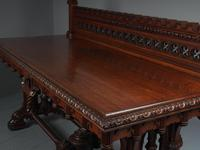 Carved Oak Serving Table Attributed to Pugin (5 of 17)