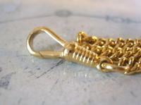 Vintage Pocket Watch Chain 1970s 12ct Gold Plated Curb Link Albert With T Bar (9 of 9)
