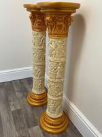 Dutch Golden Age Style Gilt Harvest Relief Plinth Display Torcheres (73 of 87)