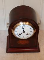 Mahogany Arch Top Mantel Clock (8 of 10)