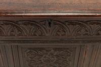 17th Century English Oak Panelled Coffer (9 of 9)