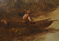 Victorian Oil Painting English Norfolk Landscape Rustic c.1860 Arcadia (6 of 17)