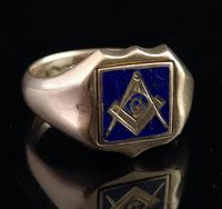 Antique Masonic Signet Ring, 9ct Gold (5 of 9)