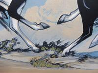 Watercolour & Ink Study of Stallions Artist Vigil (4 of 10)
