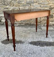 Antique Victorian Mahogany Two Drawer Side Table (9 of 20)