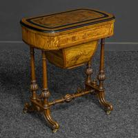Victorian Walnut Games / Sewing Table (2 of 8)