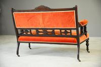Victorian Upholstered Small Sofa (6 of 6)
