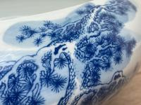Interesting Chinese Meiping Qianlong Style Round Blue White Porcelain Bowl (13 of 26)