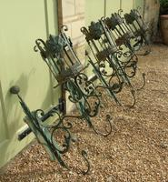 Antique Spanish Style Wrought Iron Wall Scones Set of Four (6 of 8)