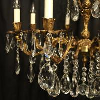 Italian Gilded Brass 8 Light Antique Chandelier (8 of 9)