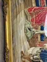 """Large Artwork Gilt Gesso Framed 19th Century Tapestry French Royal Court """"Playing Chess"""" (3 of 44)"""