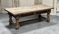 Rustic French Bleached Oak Coffee Table with 2 Drawers (19 of 19)
