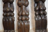 Antique Early Oak Furniture Mount Decorative Carvings (7 of 10)