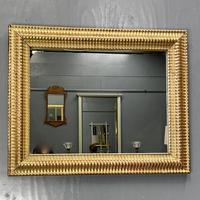 French Rippled Gilt Overmantle Mirror