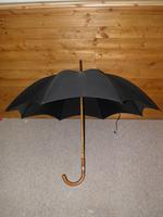 Vintage Hallmarked Silver 1930 Walking Length Umbrella by Brigg, London (SWAINE ADENEY) (5 of 14)