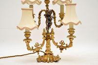 Antique French Gilt Metal Candelabra Table Lamp (5 of 9)
